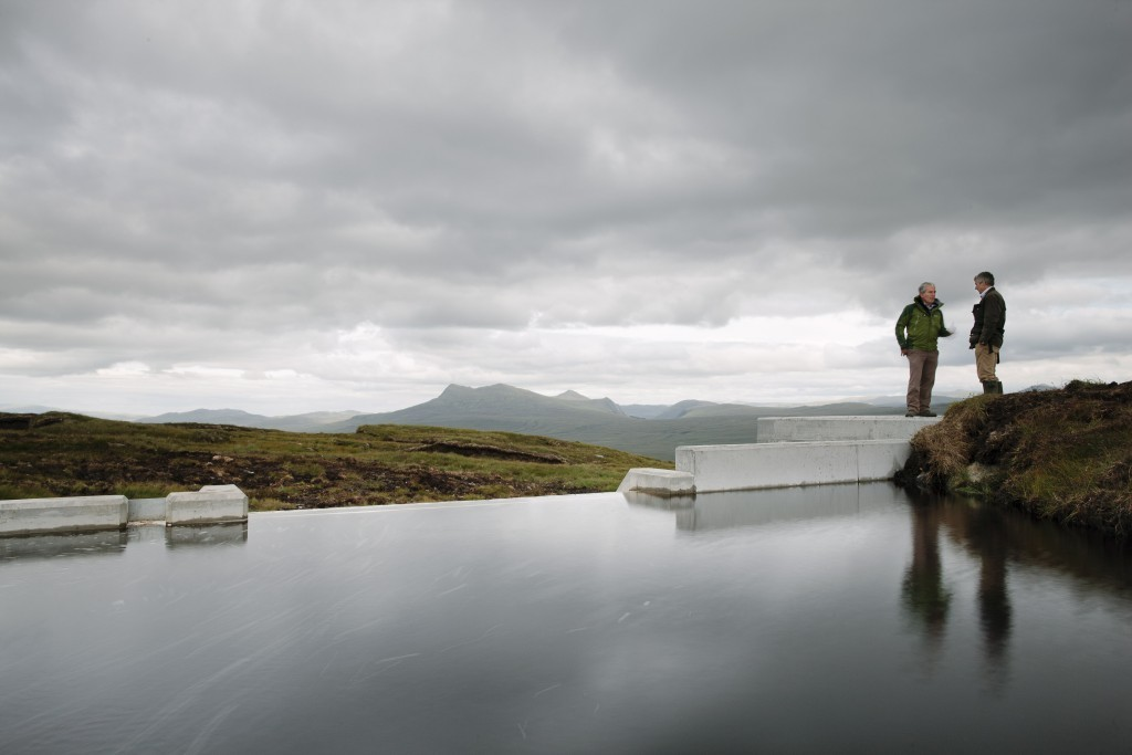 A small-scale, run of river hydro scheme in the Scottish Highlands