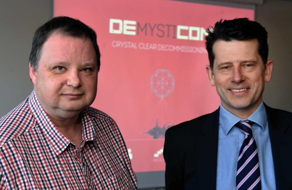 Douglas Leith, creative director at STC Global, left and David Haywood, project adviser at STC.