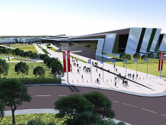 Artist's impression of the AECC at dyce