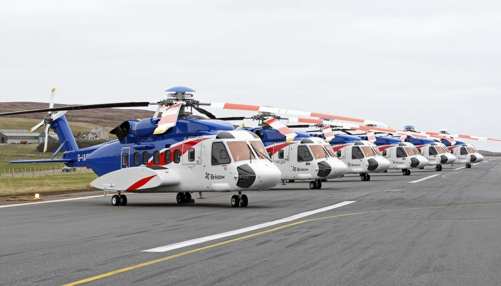 Bristow's S92 Fleet in Shetland .