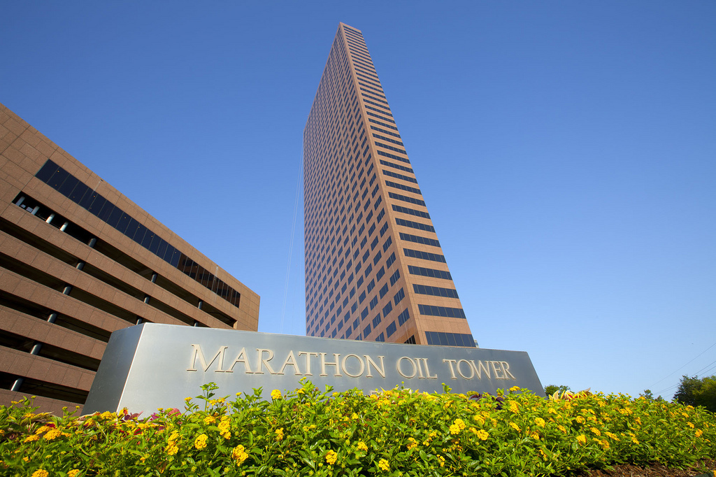 The Marathon Oil Tower in Houston