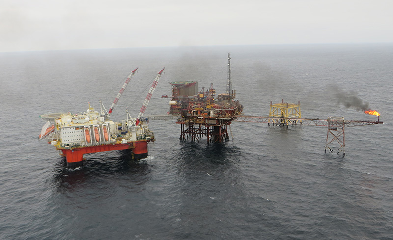 The Safe Boreas, pictured left, lands extension in the North Sea