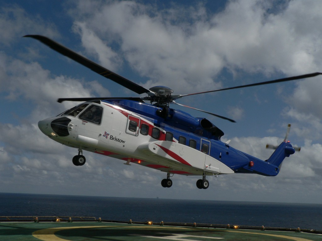 Oil worker airlifted to hospital.