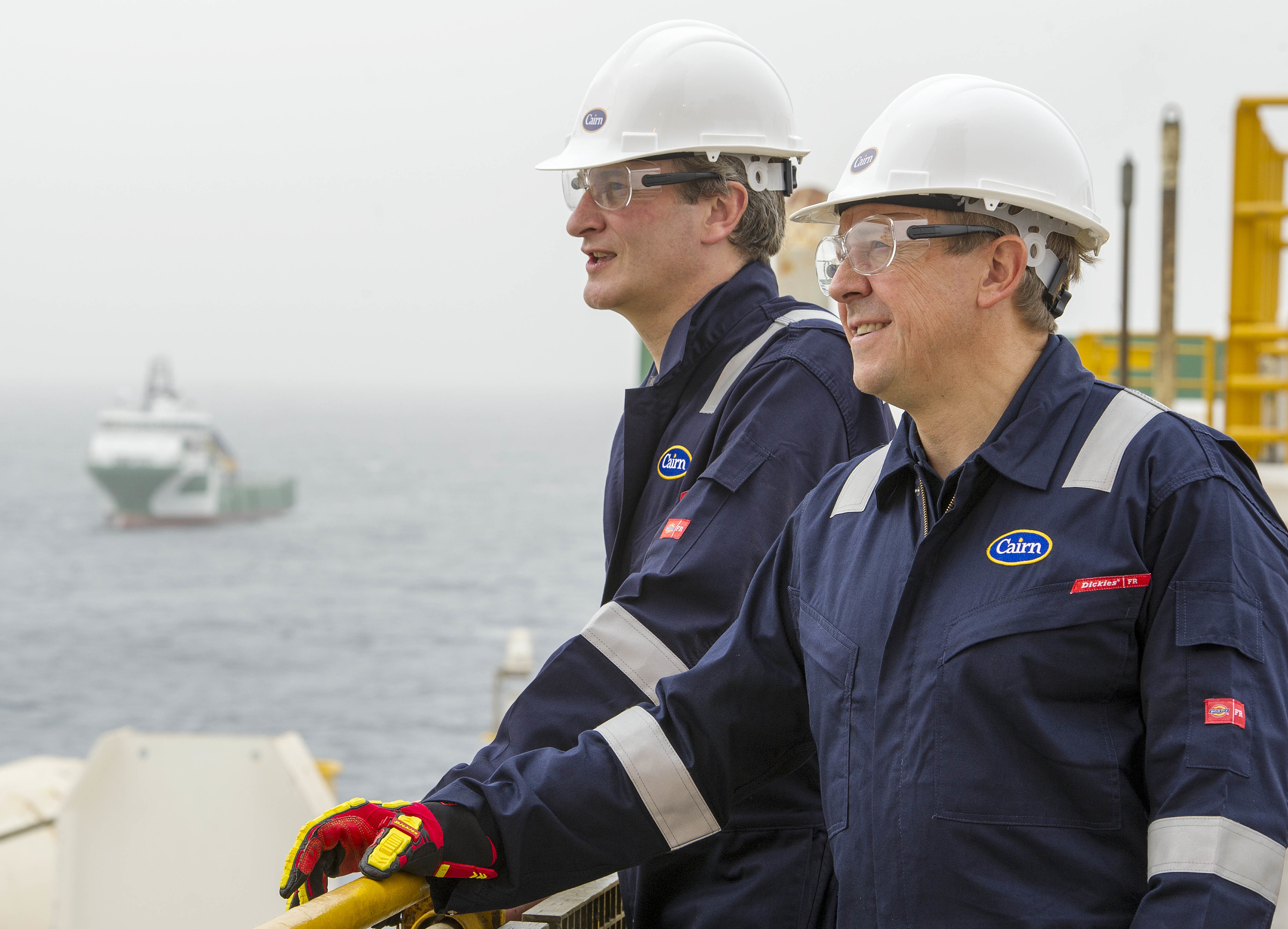 Cairn Energy's board visits the Ocean Rig Athena, Dakar Senegal.  Picture Ian Rutherford