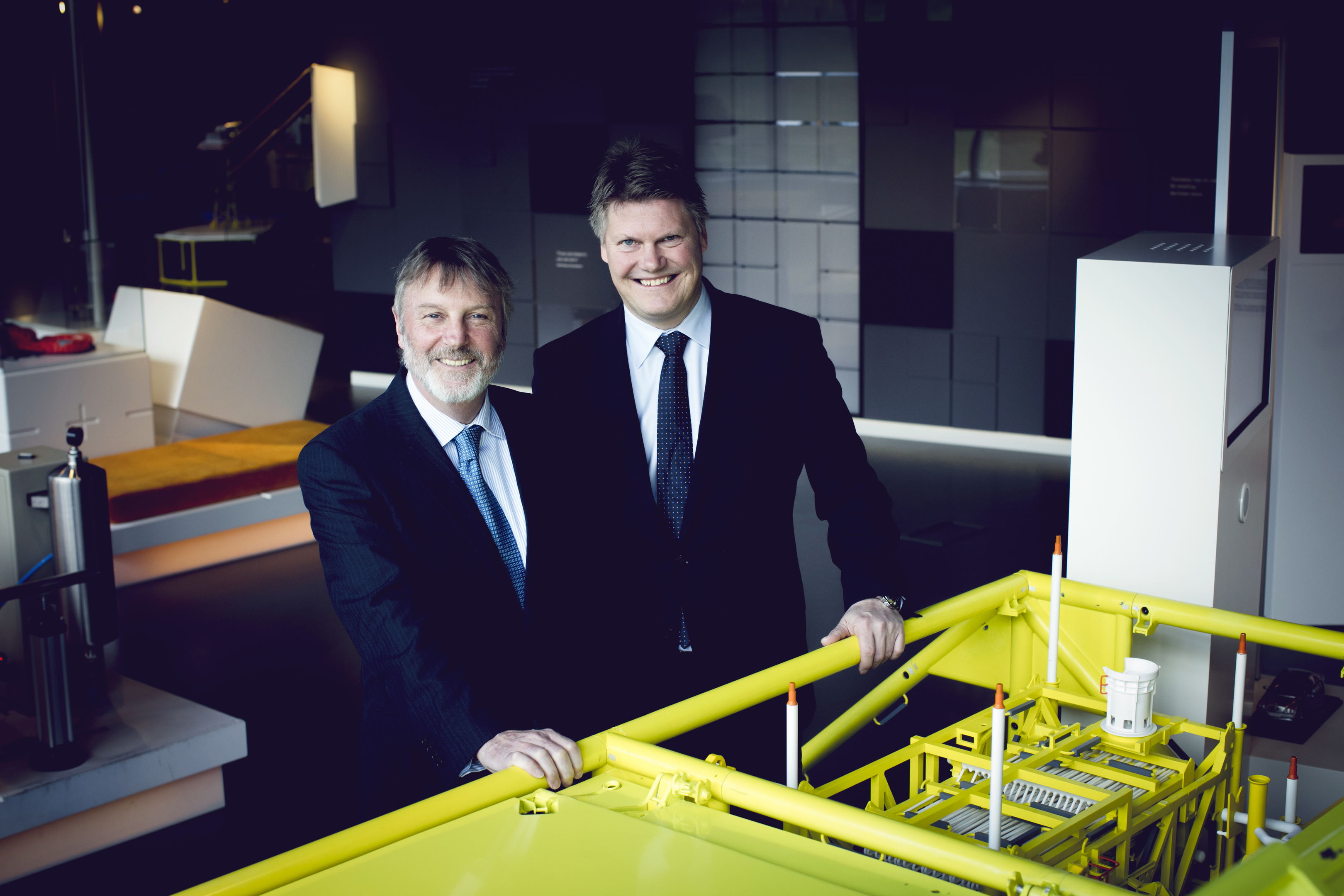 Mark Riding, of Aker Solutions, and Per Erik Holsten of ABB.