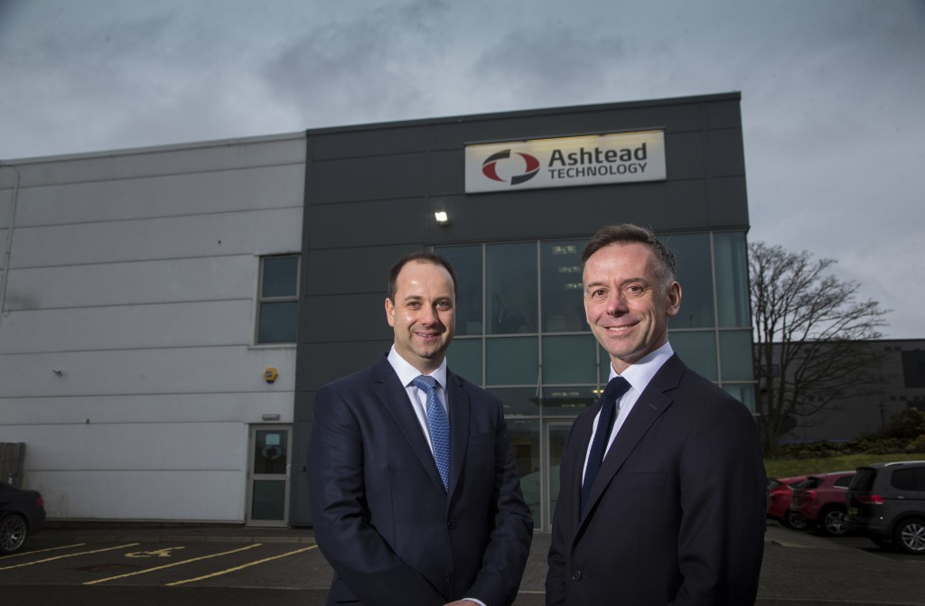 ASHTEAD TECHNOLOGY WESTHILL PICTURE OF ALAN PIRIE (L) AND NICHOLAS GEE