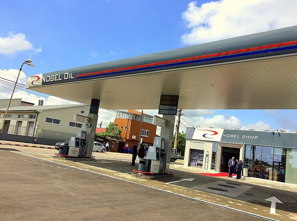 Nobel Oil's new Romanian petrol station