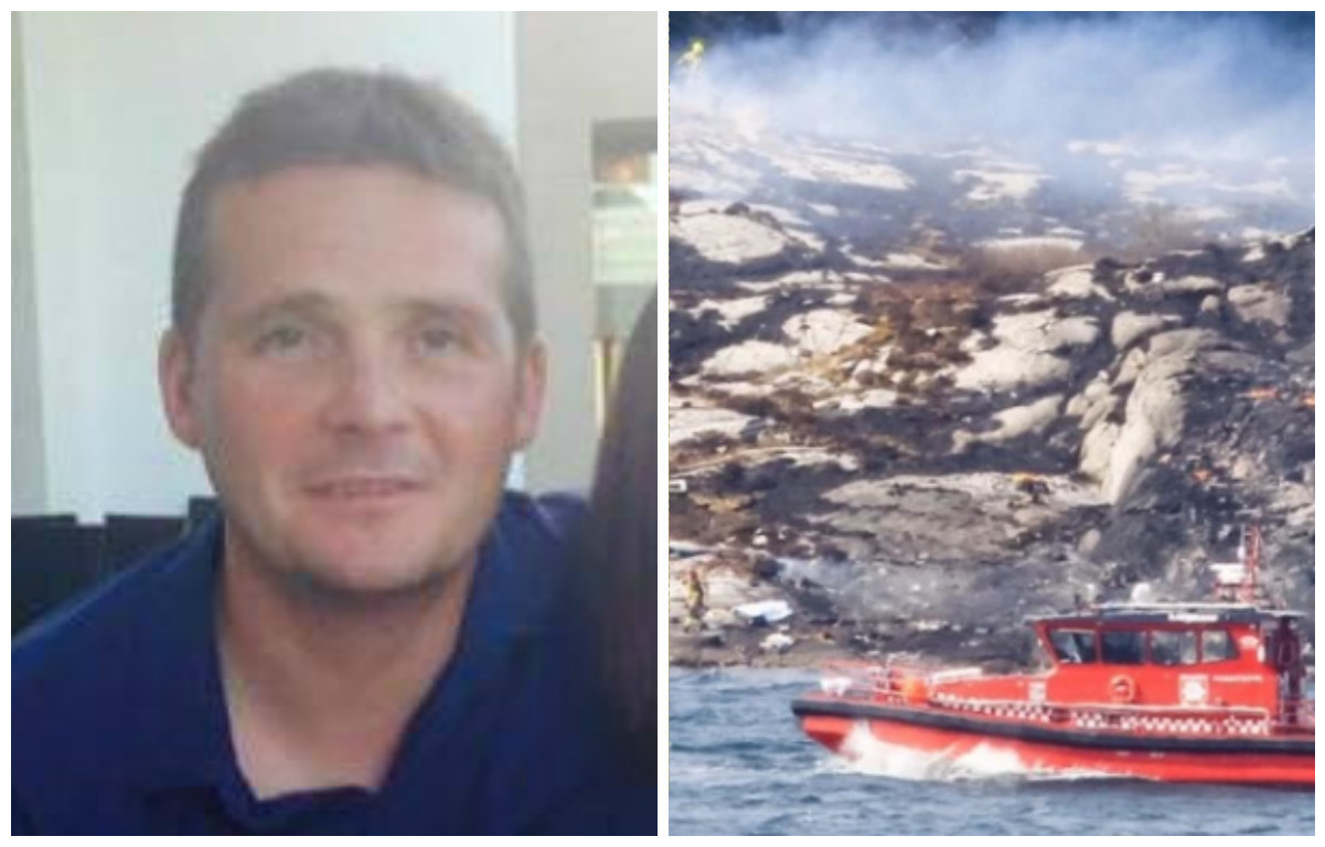 Iain Stuart, 41, was one of the victims of Friday's crash.
