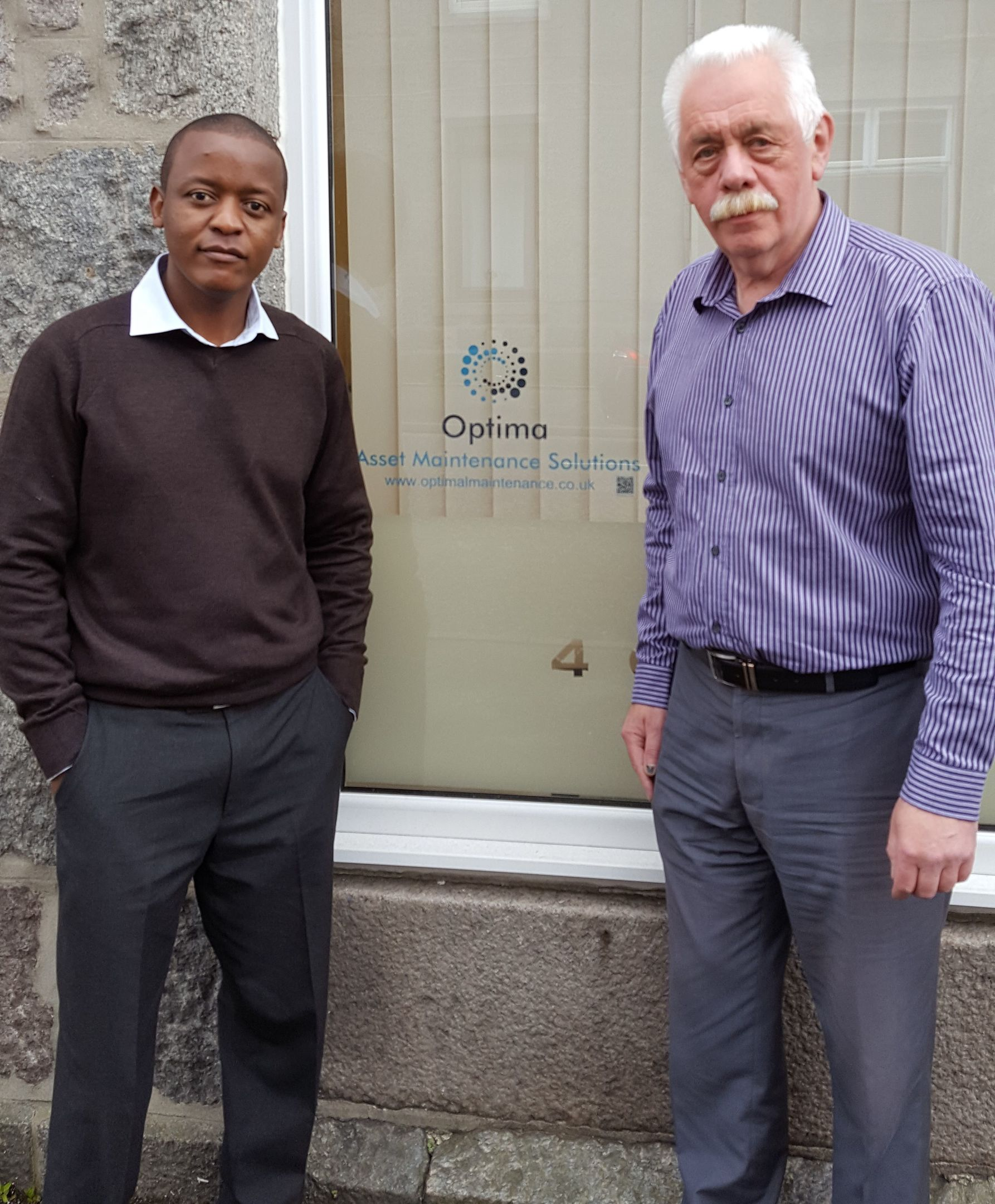 Leslie Moyo, Mike Holland of Optima Asset Maintenance Solutions