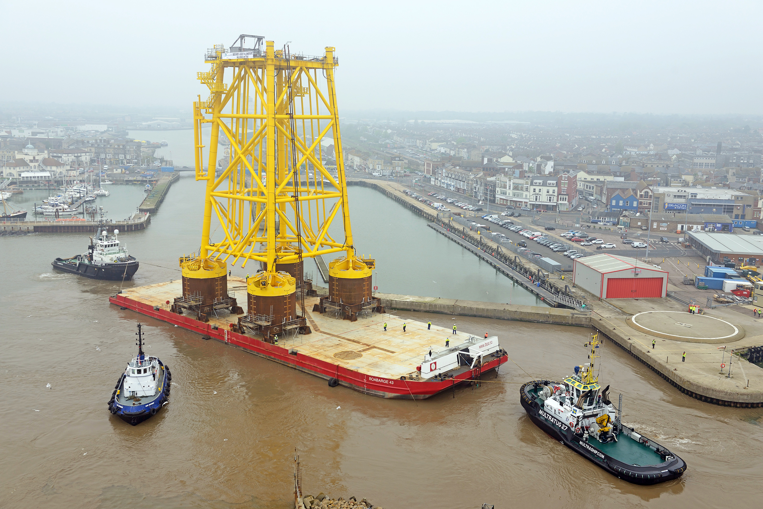 Dudgeon jacket leaves Lowestoft. Pic: www.chpv.co.uk