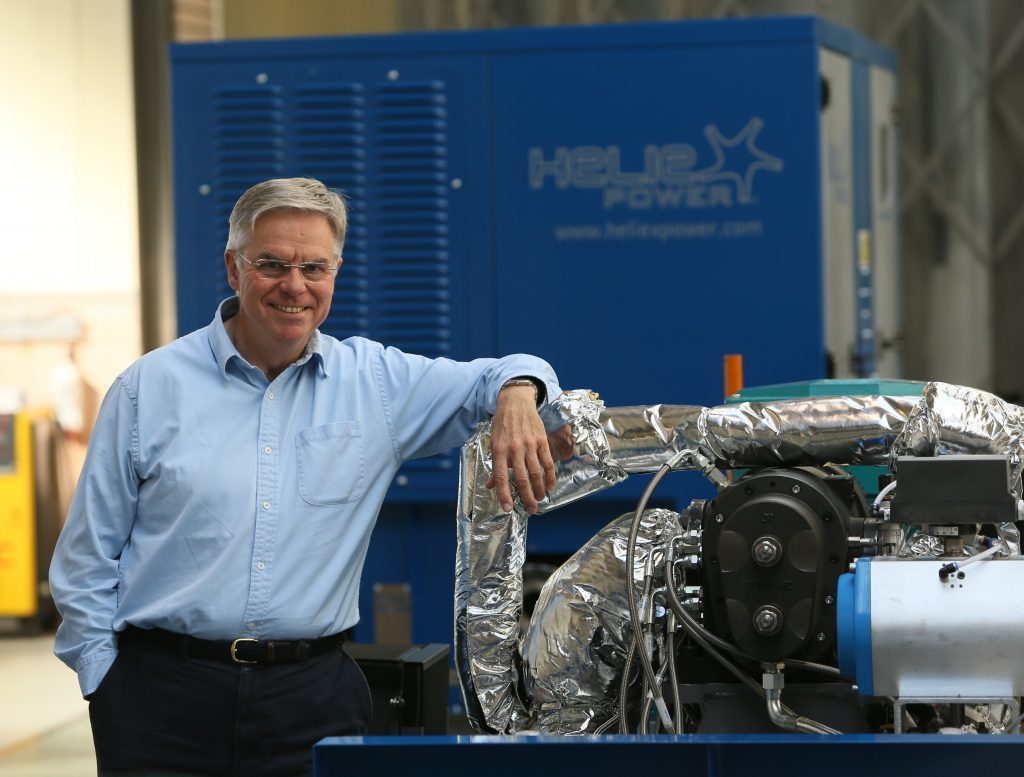 Professor Dan Wright, founder of Heliex Power.