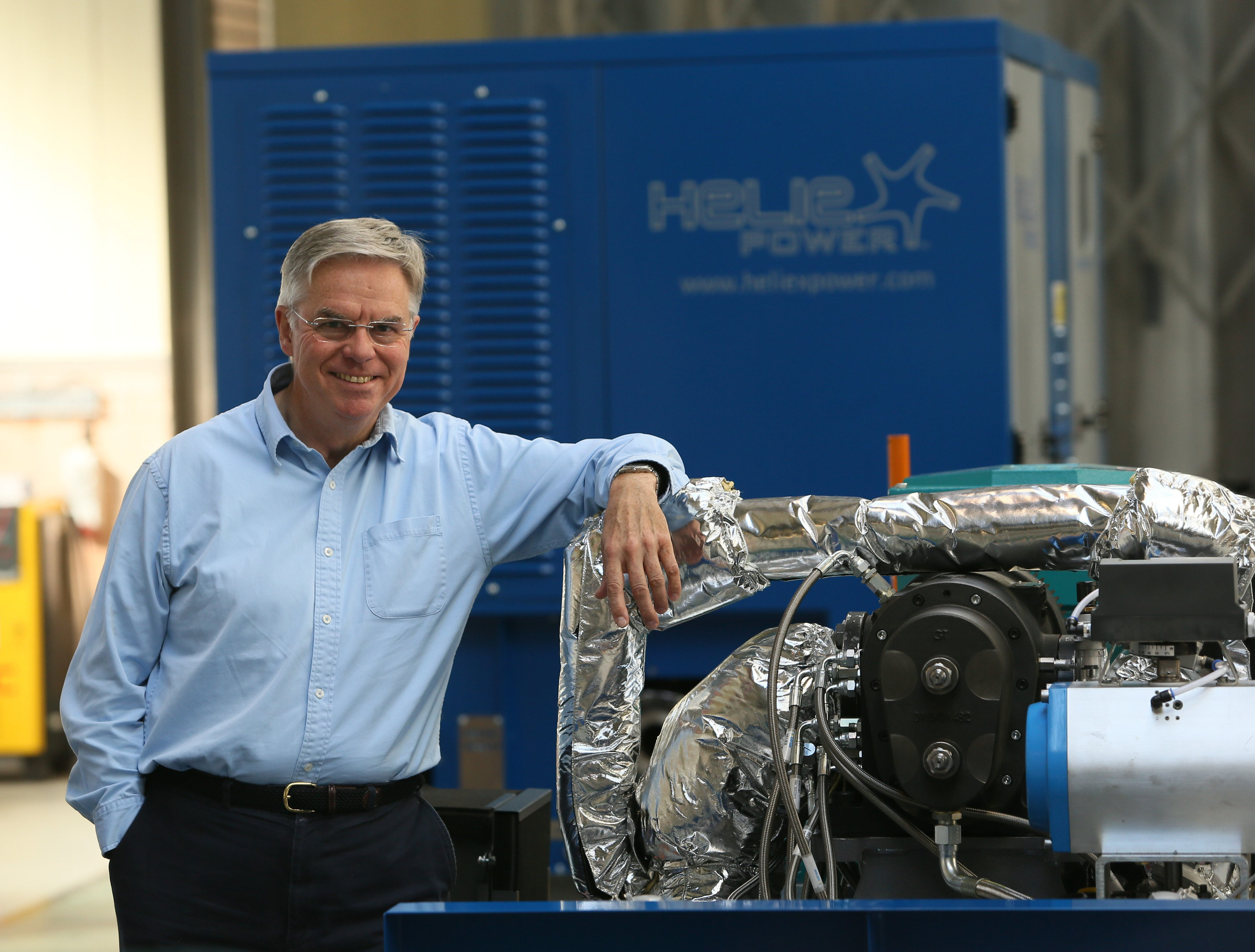 Professor Dan Wright, founder of Heliex Power.