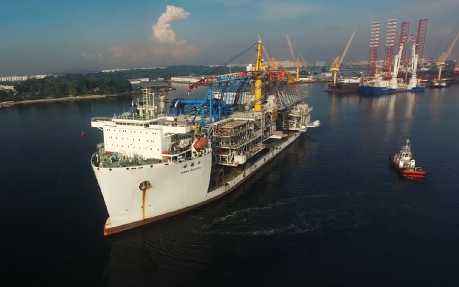 Ivar Aasen platform deck is on its way to Norway