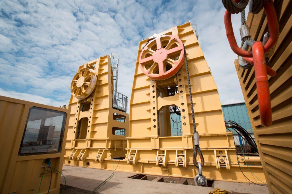 Maritime Developments' 400 tonne reel drive system