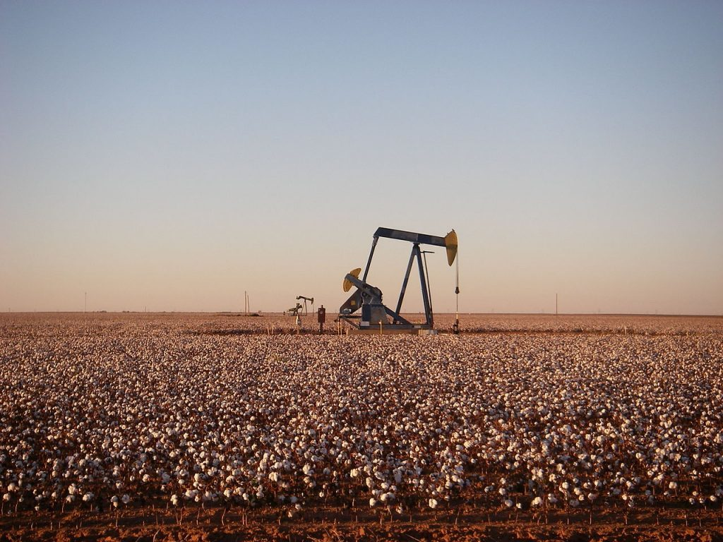 A pumpjack operating in the Permian Basin