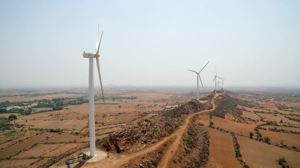 A wind farm in India
