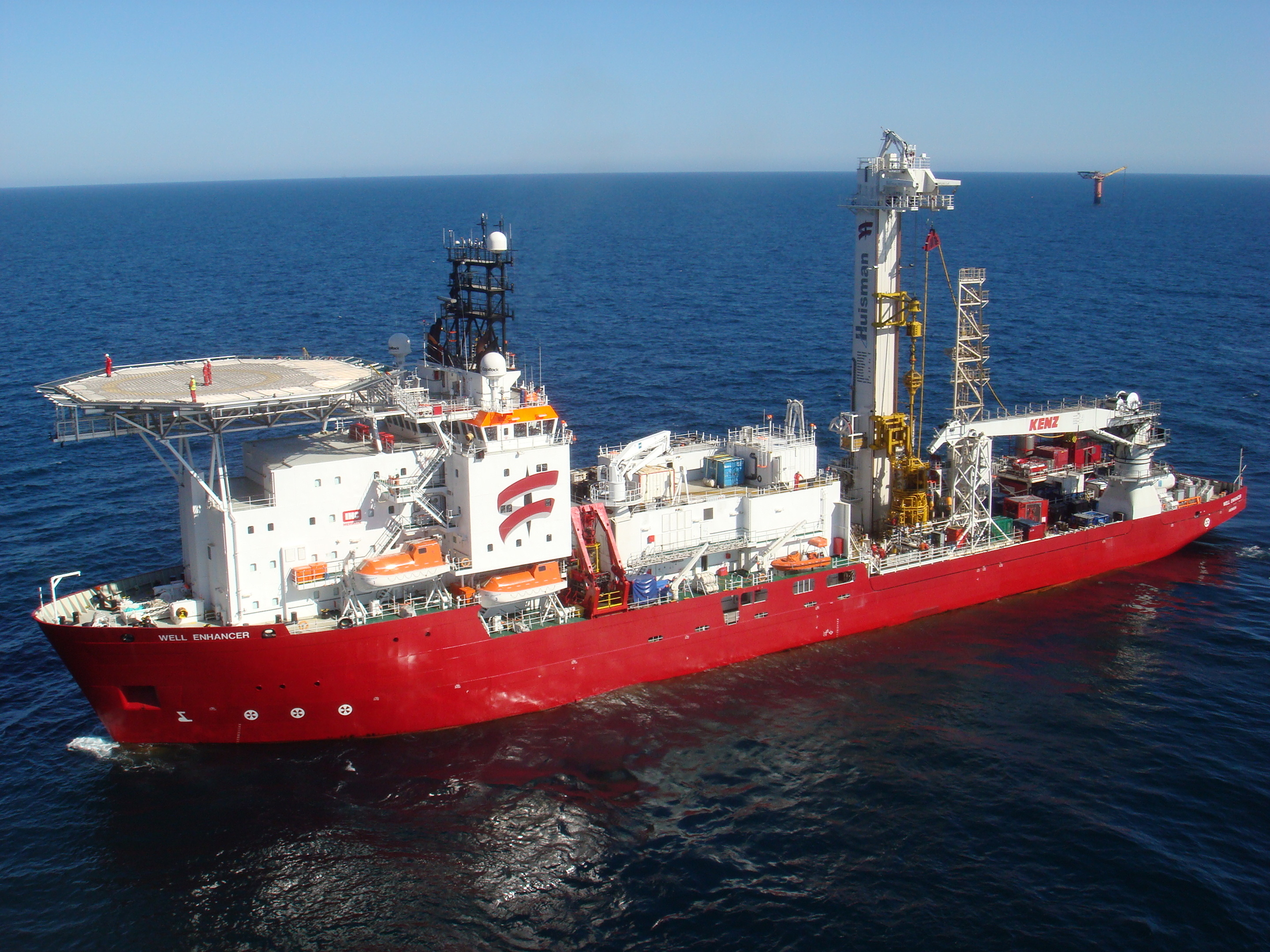 The Well Enhancer vessel at sea