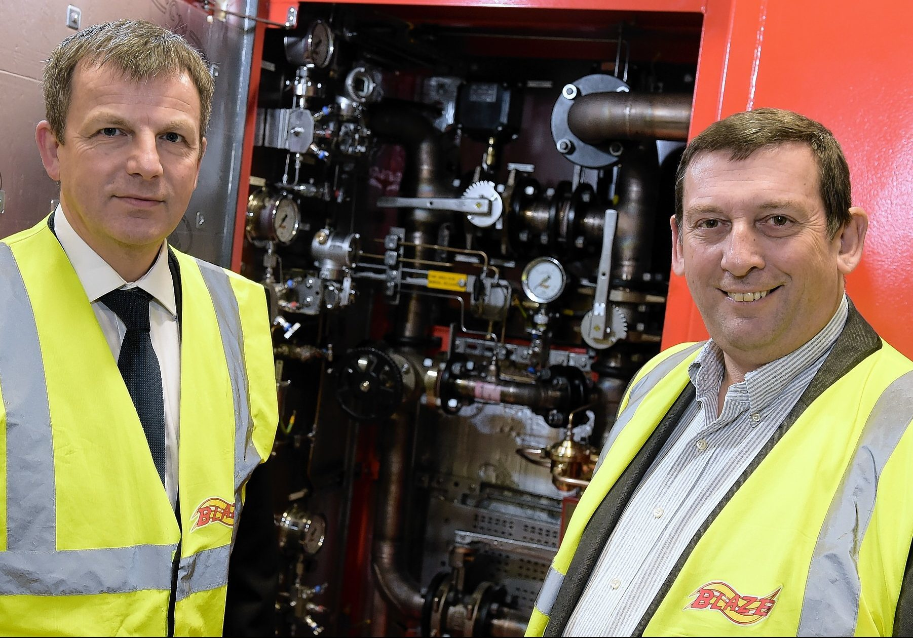 Blaze's international manager Colin Black, left, and managing director Howard Johnson.