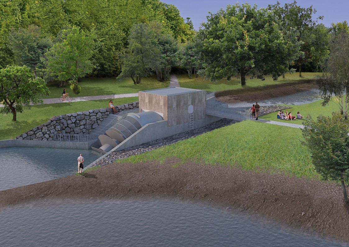 An artists rendering of Aberdeen Community Energy's Donside Hydro scheme