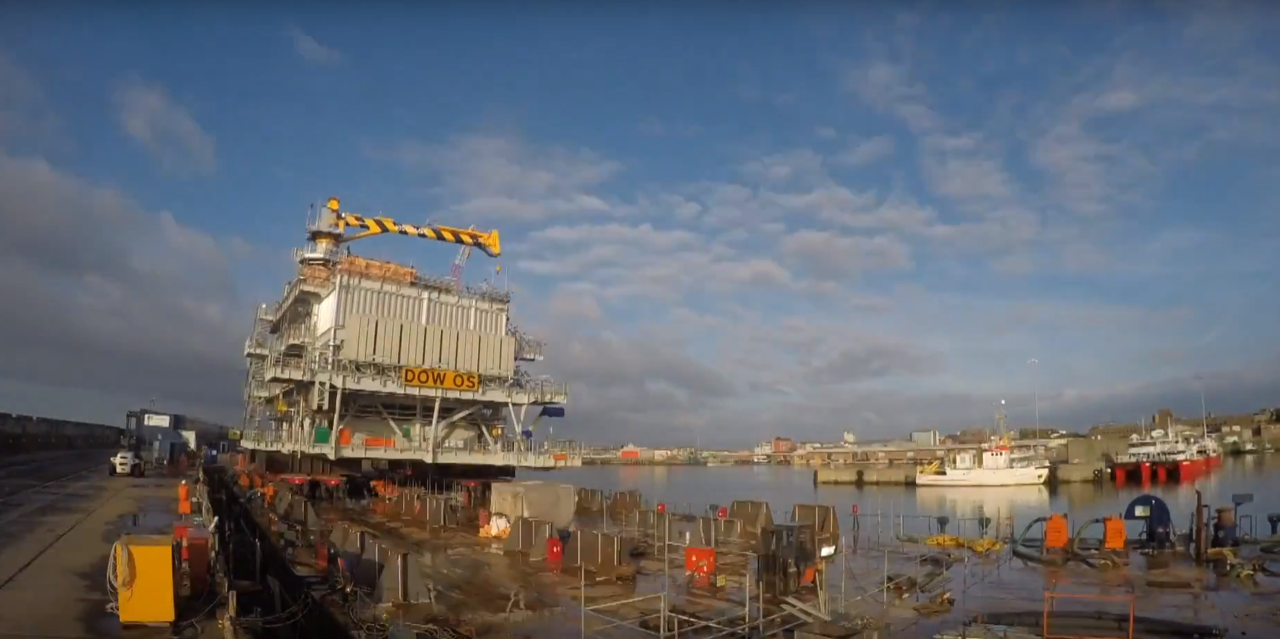 Video: Statoils Dudgeon substation load out