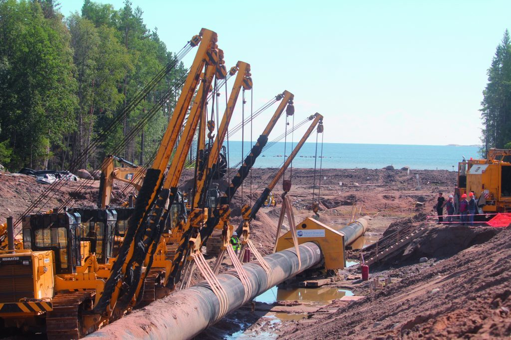 Construction work taking place on the Nord Stream pipelines