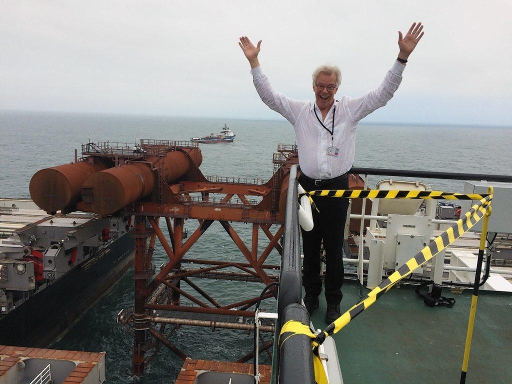 Edward Heerema, President and CEO of Allseas, aboard the Pioneering Spirit