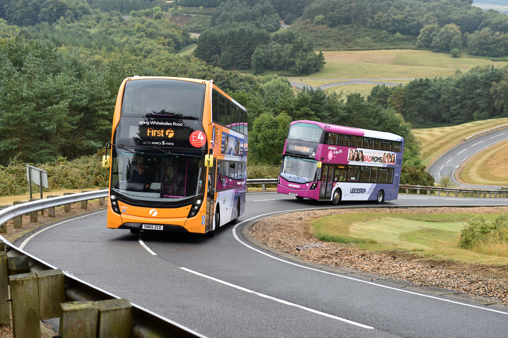 First Bus tests vehicles at the Millbrook Proving Ground.