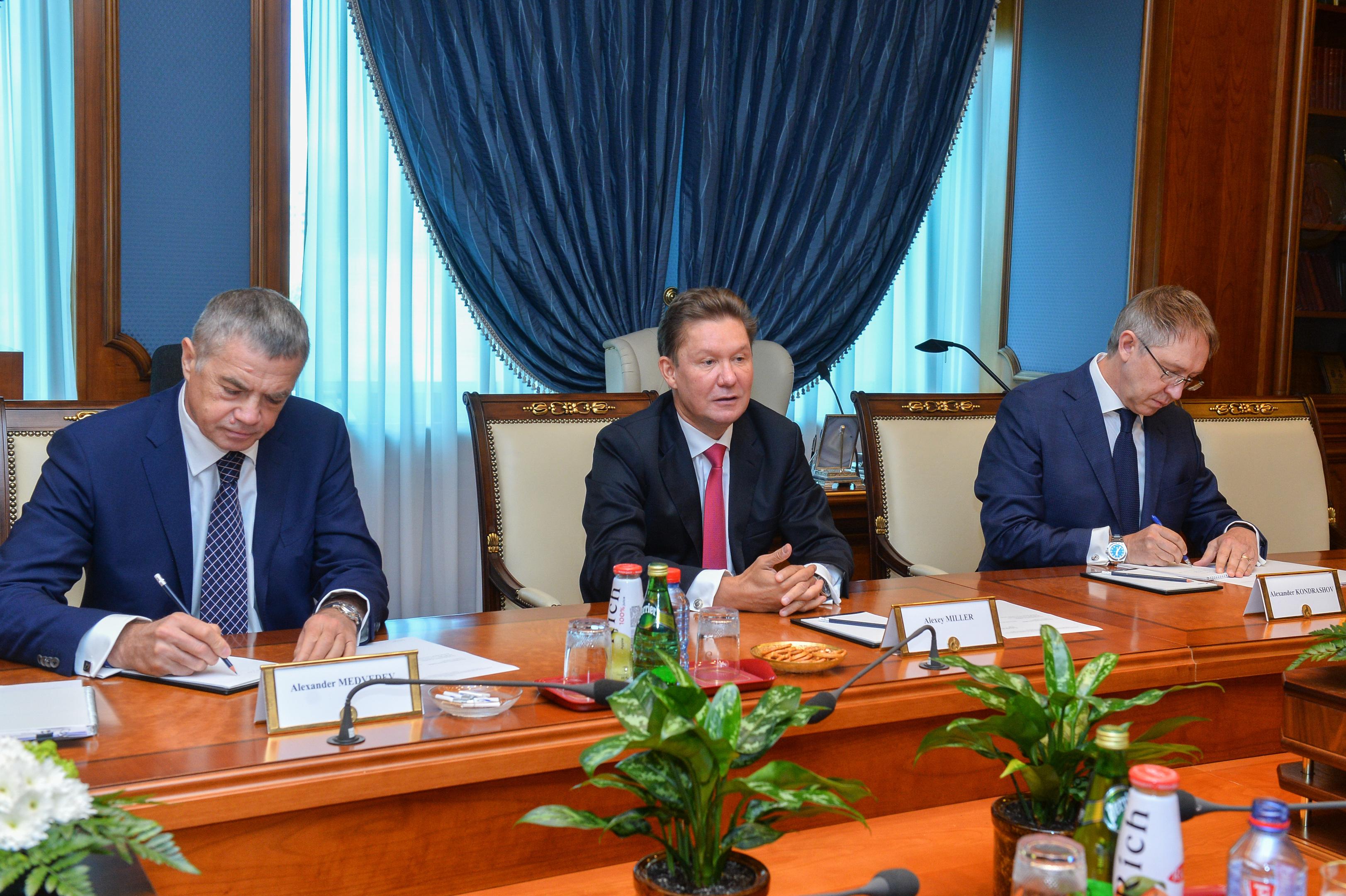 Gazprom meeting