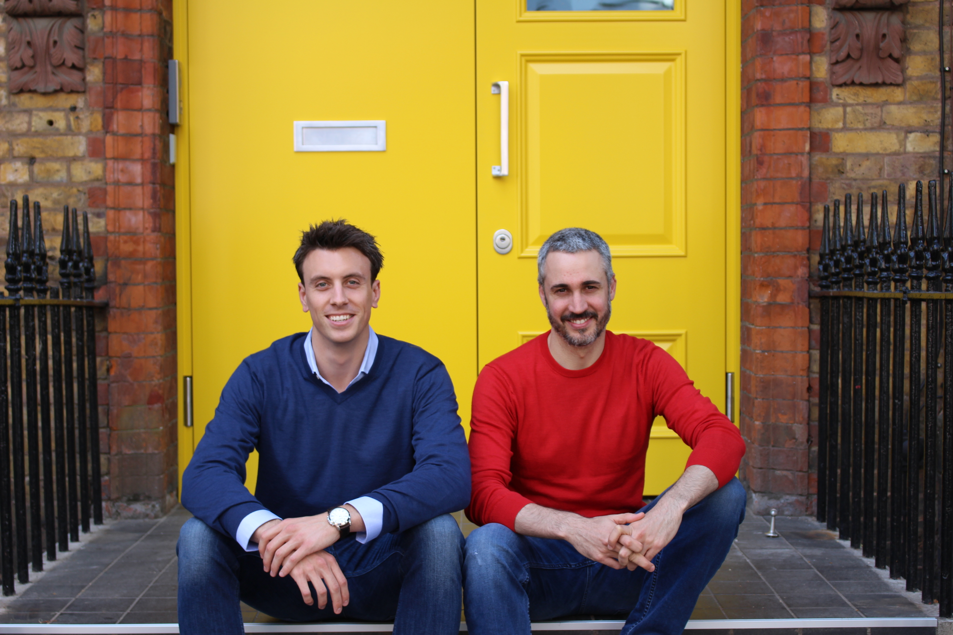 Simon Phelan, co-founder and CEO of HomeTree, left, alongside Andreu Tobella, the firm's other co-founder and its chief product officer.