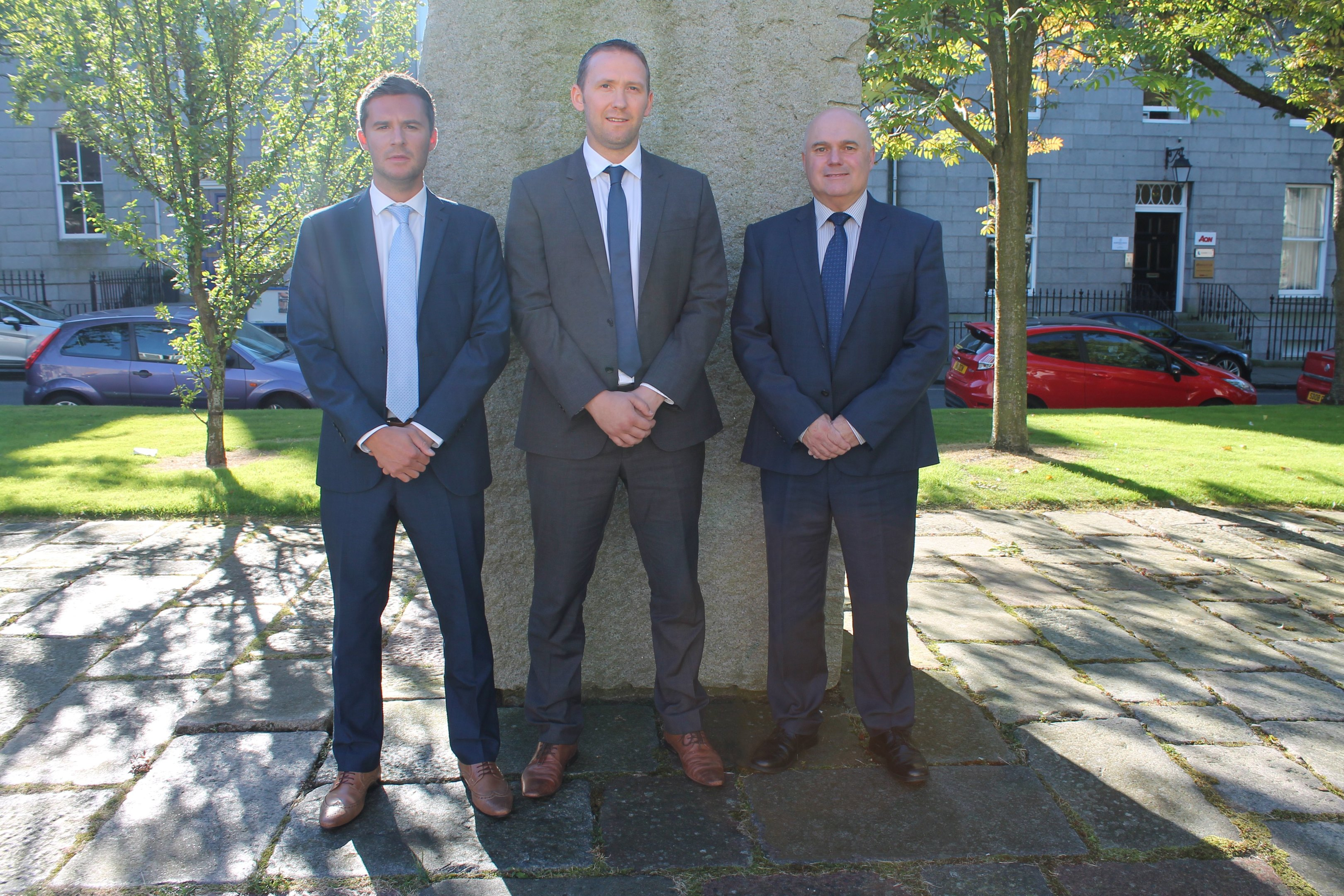 (L-R): Steven Miller, business development manager, Chris Collie, operations director & Martin Booth, managing director of Zenith Energy.