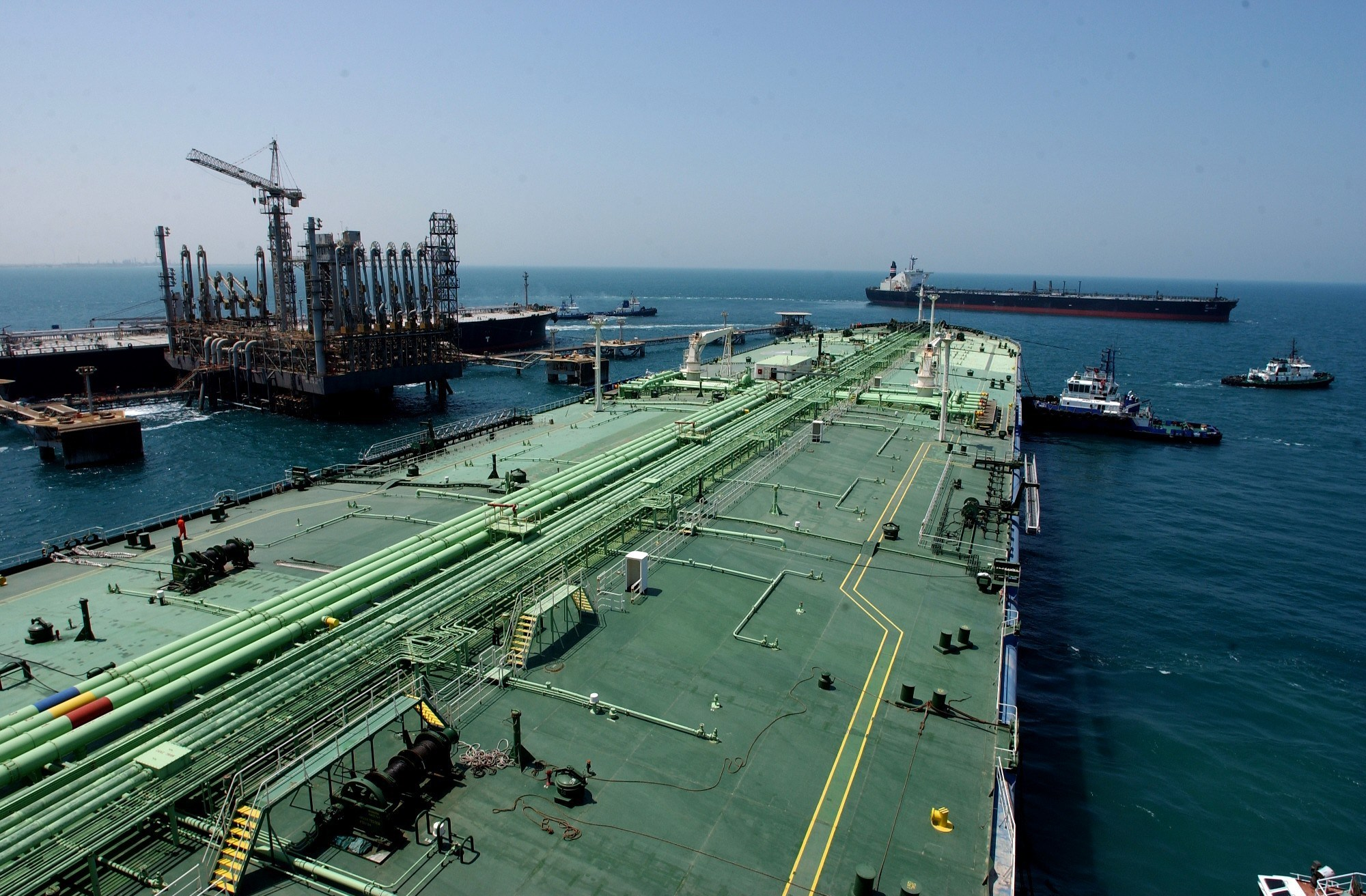 The Ras Tanura oil terminal