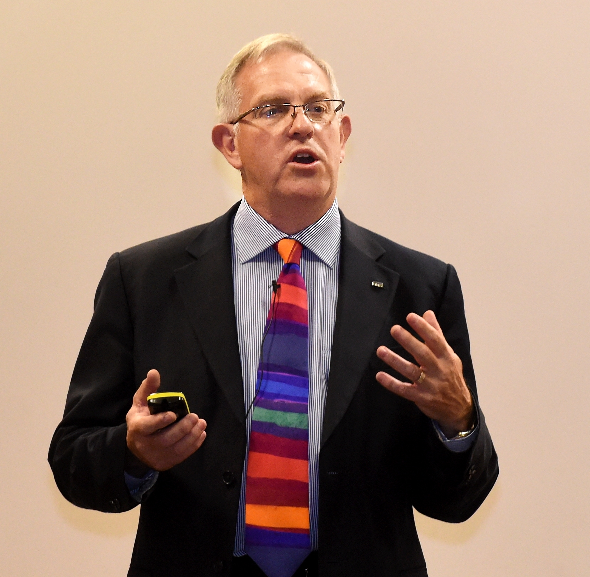 The Intelligent Energy Conference at AECC, Aberdeen. In the picture is Walt Aidred, research director, Schlumberger.