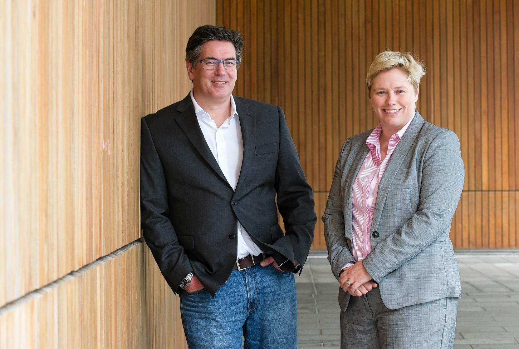 Duncan Hart, business development and Gillian Docherty, ceo of Data Lab