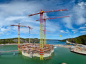 Construction of the Hebron platform's gravity based structure