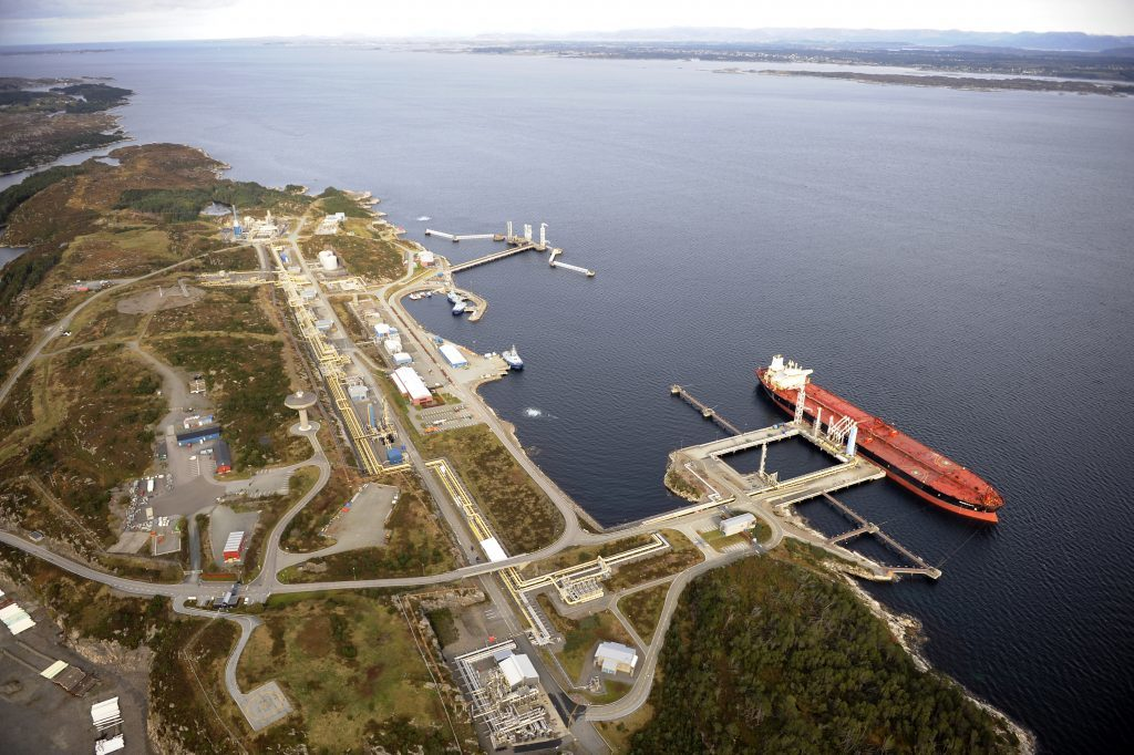 The Sture terminal Photo by Oyvind Hagen - Equinor.