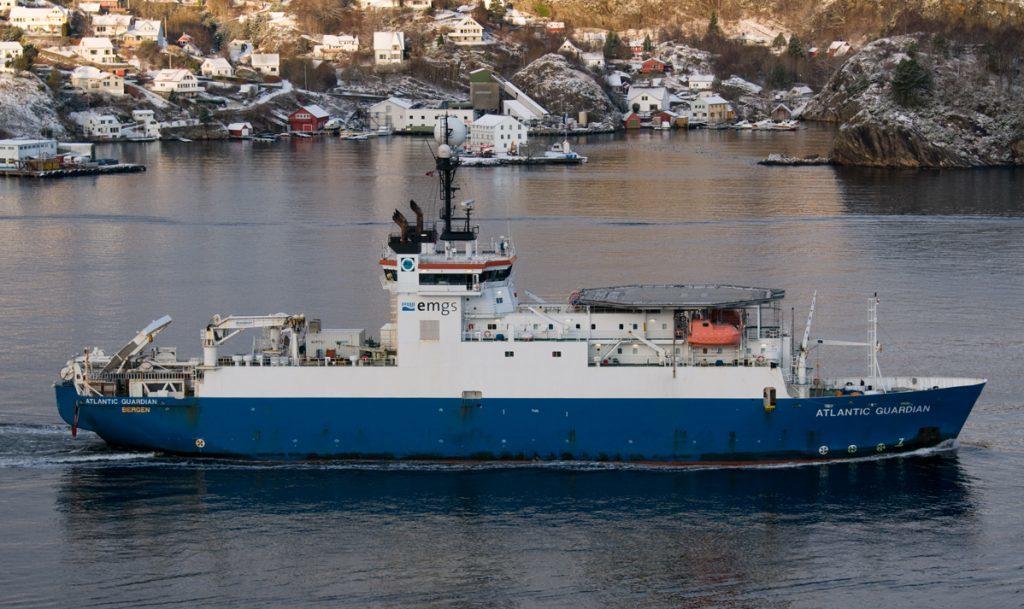 EMGS's Atlantic Guardian vessel. Photo by Tom Gulbrandsen
