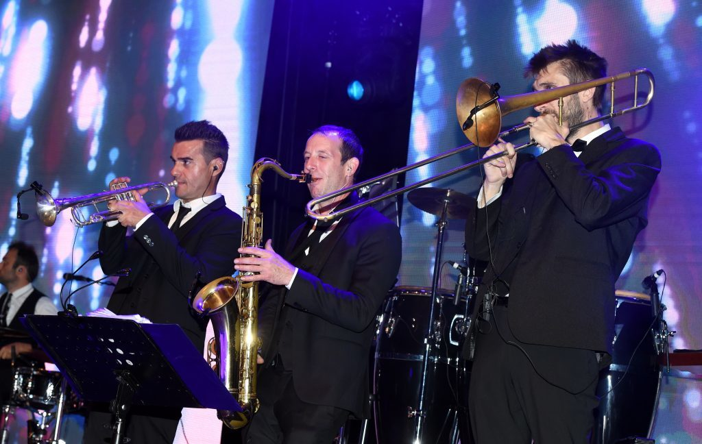 ENERGY BALL 2016 - Swanband performing at the Energy Ball 2016 at AECC.  Picture by KEVIN EMSLIE