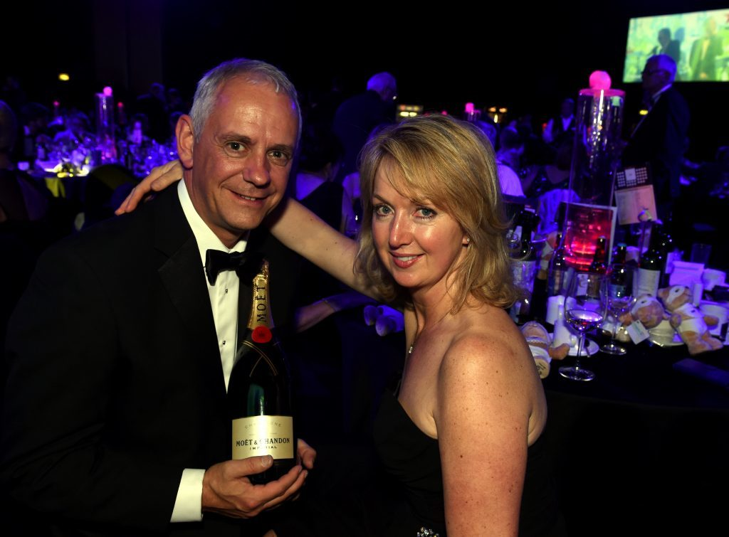 The Press and Journal Energy Ball at AECC, Aberdeen. In the picture is raffle winners, Mike and Gill Pettigrew. Picture by Jim Irvine  1-10-16