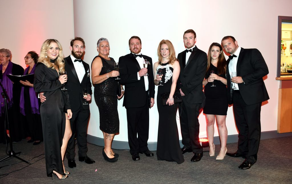 ENERGY BALL 2016 - (from left) Kelly and Mark Goddard, Amanda and Clifford O'Farrell, Louisa Lawrie, Chris Kirk, Holly Johnson and Mark Radcliffe