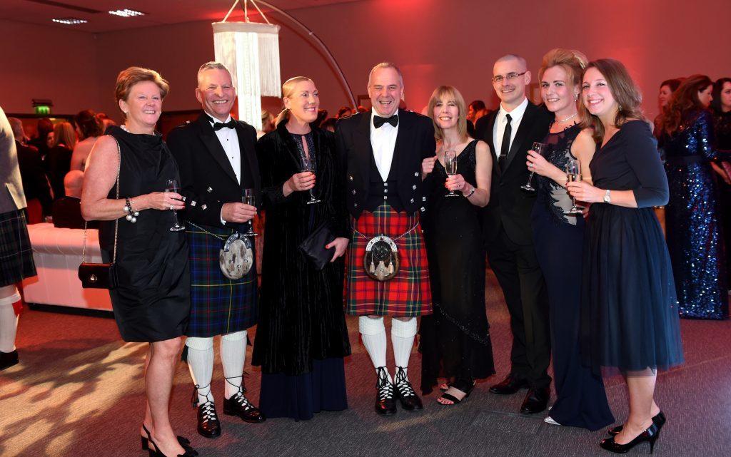 ENERGY BALL 2016 - (from left) Lynne Deboer, Jim Maitland, Jackie Bruce, Gordon and Rhona Craig, Jonathan and Lynne Geddes and Emily Deboer