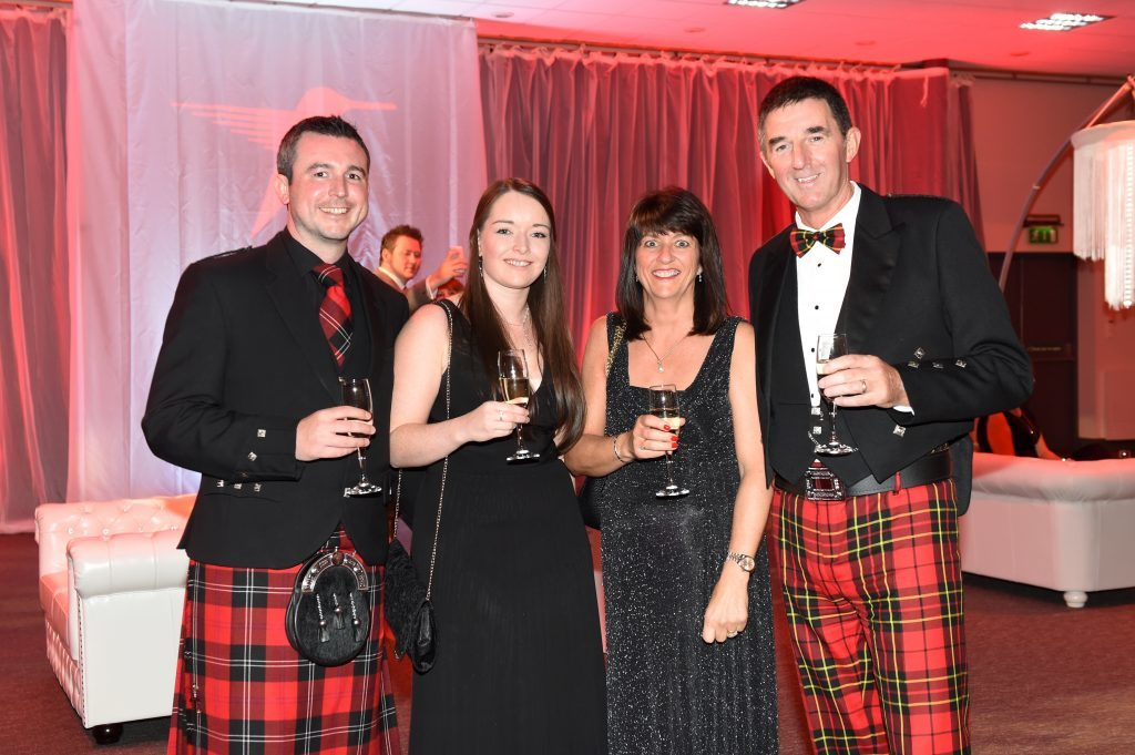 ENERGY BALL 2016 - (from left) Jace Barker, Laura Fairley with Donna and Graeme Brodie attending the VIP drinks reception