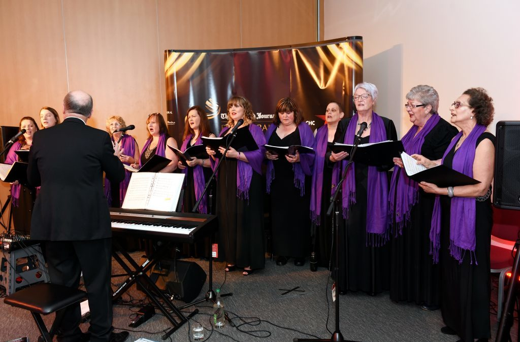 ENERGY BALL 2016 - The Kinloss Military Wives choir performing in the VIP drinks reception