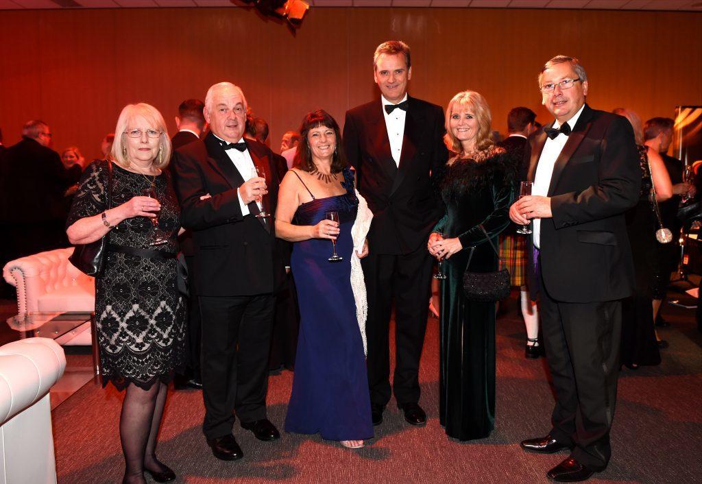 ENERGY BALL 2016 - (from left) Jacqui Maynard, Graham Brooke, Lindsey Fettes, Graham and Lyndsay MacEwen, Graham Mountford