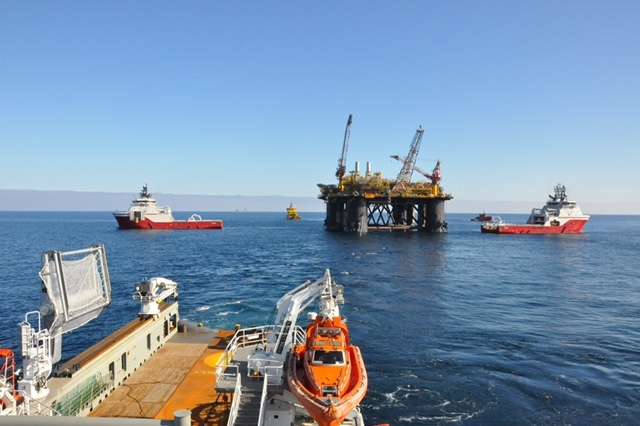 The FPF-1 vessel, which is delivering oil from the Stella field.