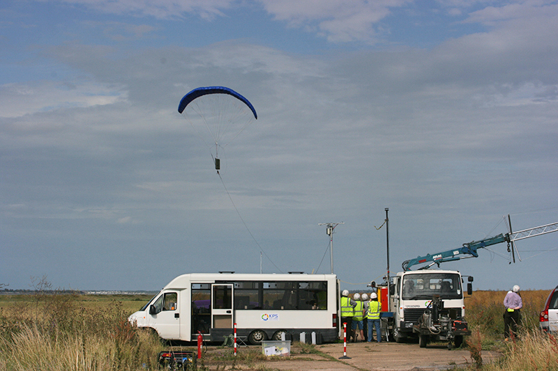 One of KPS's power generating kites in action.