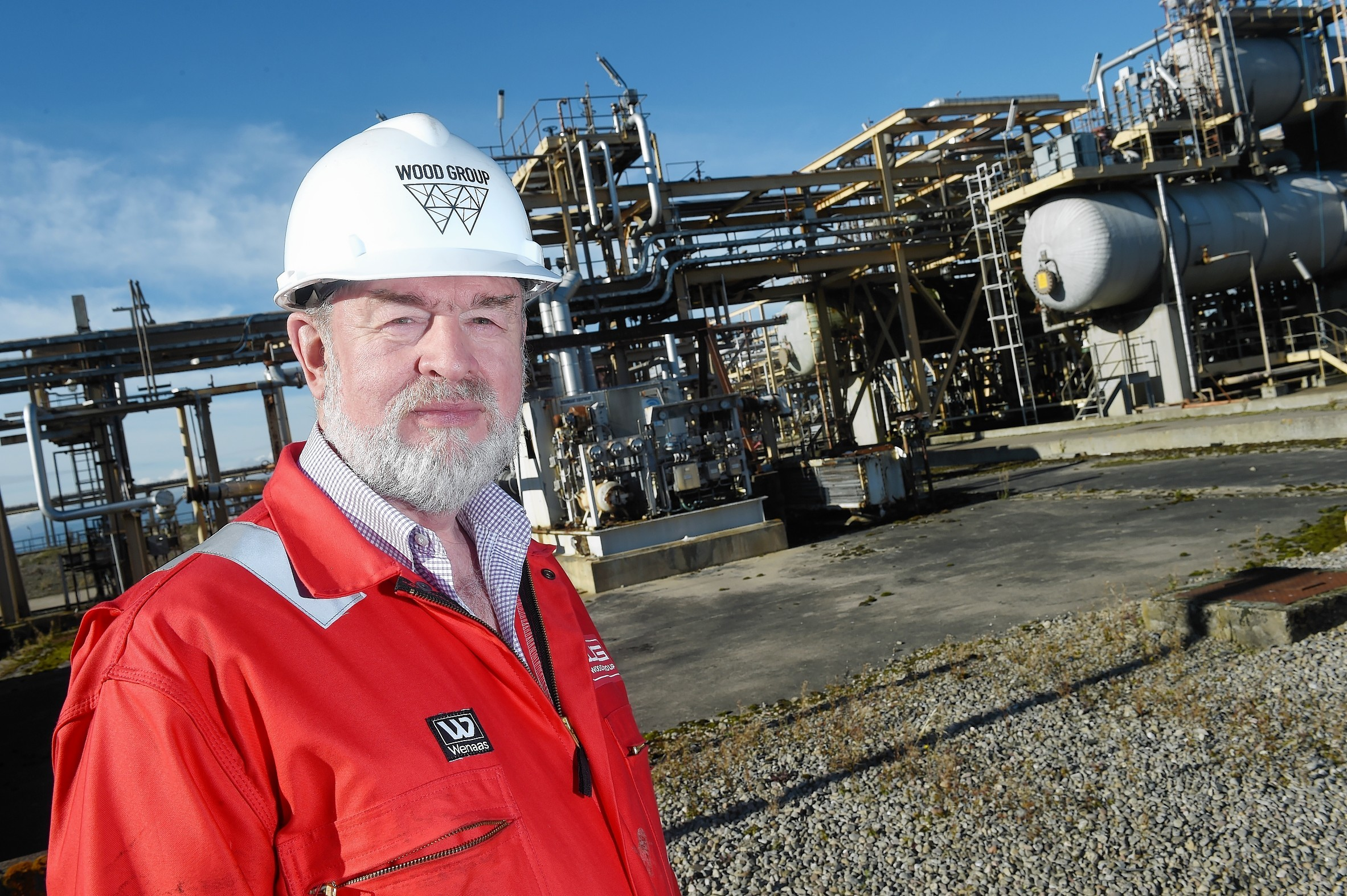 The Nigg Oil Terminal in Nigg on the Cromarty Firth.  Terminal Manager Jim Harley.