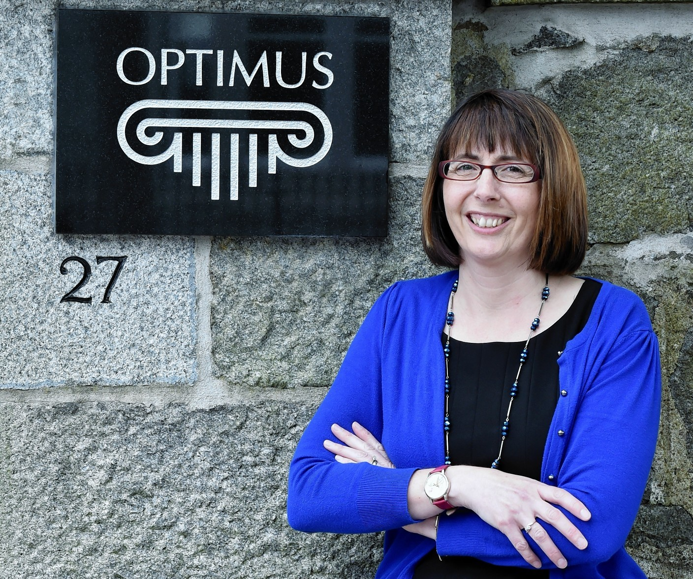 Linda Strachan, finance director of Optimus at Gordon House in Rubislaw Den North.