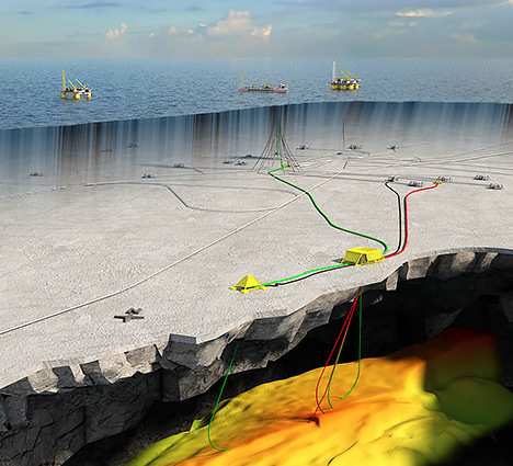 A computer generated image of the Trestakk discovery. Image from Statoil.