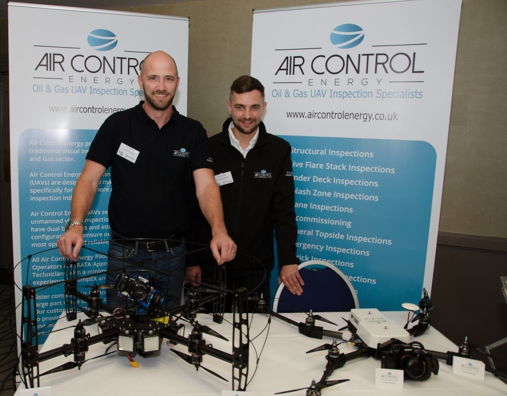 Picture of Drue Bremner, operations director at Air Control Energy, and Kieran Hope (right), the company's managing director.