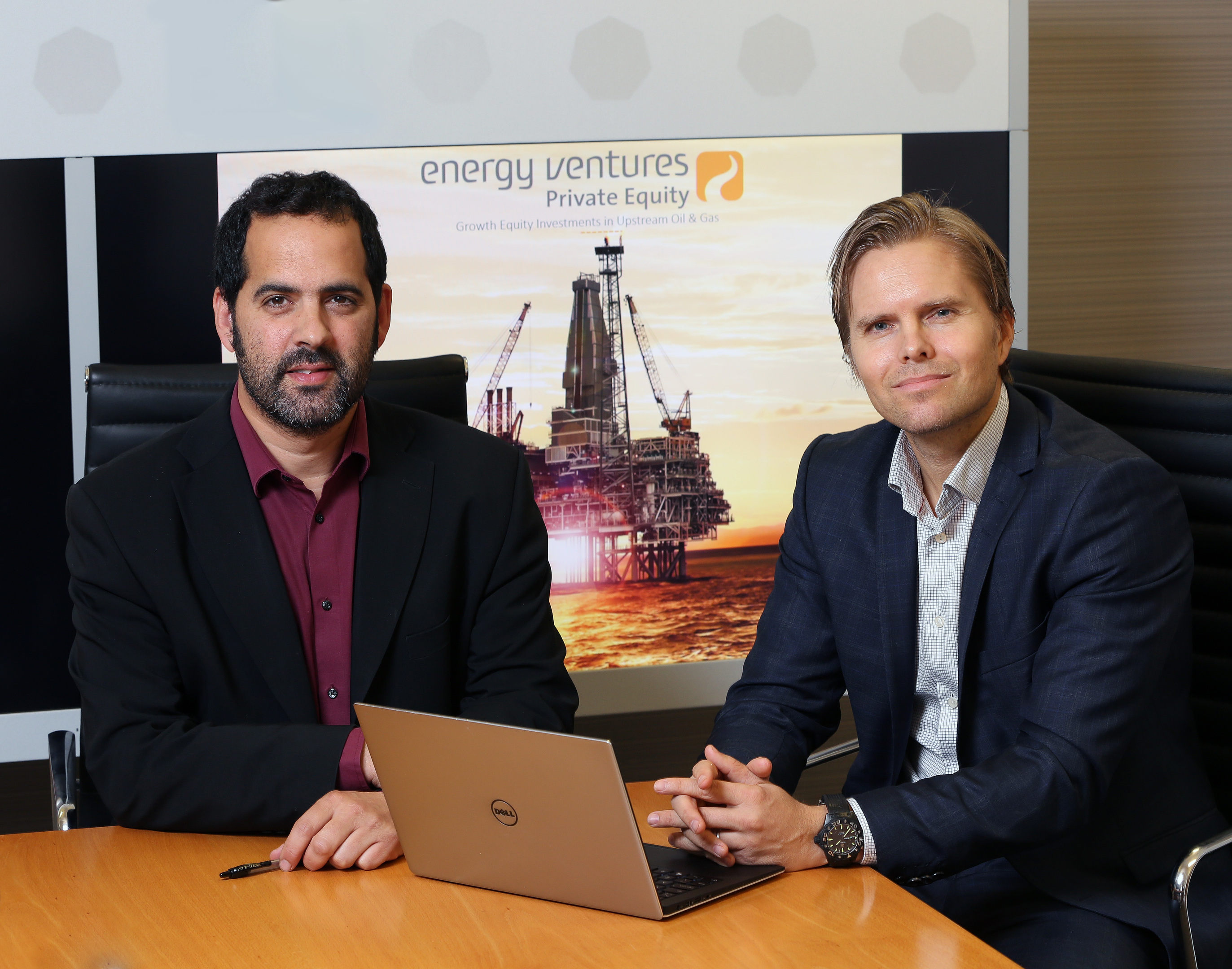 L to R – Energy Ventures partner Greg Herrera and Tomas Hvamb, Energy Ventures' investment director.